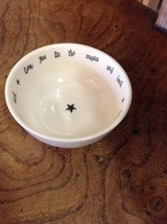 East Of India Love You To The Moon Porcelain Dish